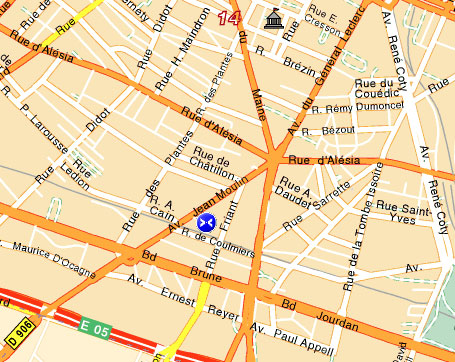 Map And Access How To Reach Us Hotel Chatillon Paris